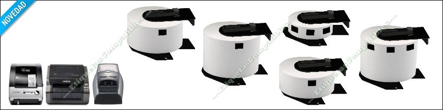 Etiquetas compatibles con impresoras Brother QL