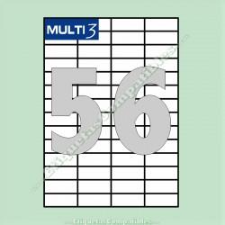 100 Hojas A4 Multi3 con 56 Etiquetas de 52,5 x 21,2 mm