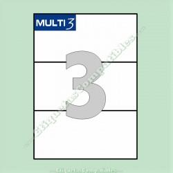 100 Hojas A4 Multi3 con 3 Etiquetas de 210 x 99 mm