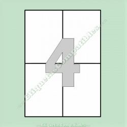 100 Hojas A4 con 4 Etiquetas de 105 x 148 mm