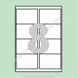 100 Hojas A4 con 8 Etiquetas de 97 x 67,7 mm