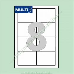 100 Hojas A4 Multi3 con 8 Etiquetas de 97 x 67,7 mm