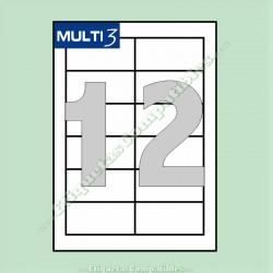 100 Hojas A4 Multi3 con 12 Etiquetas de 97 x 42,4 mm