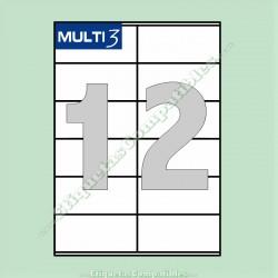 100 Hojas A4 Multi3 con 12 Etiquetas de 105 x 48 mm