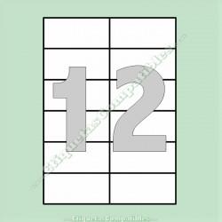 100 Hojas A4 con 12 Etiquetas de 105 x 49,5 mm