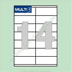 100 Hojas A4 Multi3 con 14 Etiquetas de 105 x 40 mm