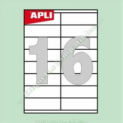 100 Hojas A4 Apli con 16 Etiquetas de 105 x 35 mm