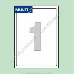 100 Hojas A4 Multi3 con 1 Etiqueta de 199,6 x 289,1 mm
