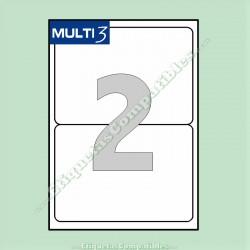 100 Hojas A4 Multi3 con 2 Etiquetas de 199,6 x 144,5 mm