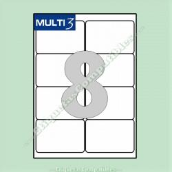 100 Hojas A4 Multi3 con 8 Etiquetas de 99,1 x 67,7 mm