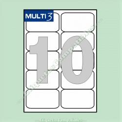 100 Hojas A4 Multi3 con 10 Etiquetas de 99,1 x 57 mm