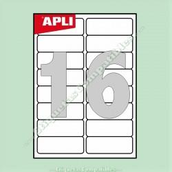 100 Hojas A4 Apli con 16 Etiquetas de 99,1 x 34 mm