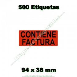 """1 Rollo 500 Etiquetas """"Contiene factura"""""""