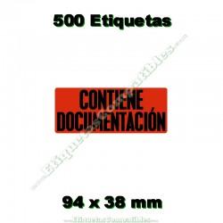 """1 Rollo 500 Etiquetas """"Contiene documentación"""""""