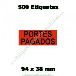 """1 Rollo 500 Etiquetas """"Portes pagados"""""""