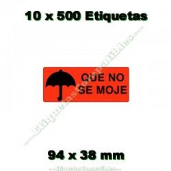 """10 Rollos 500 Etiquetas """"Que no se moje"""""""