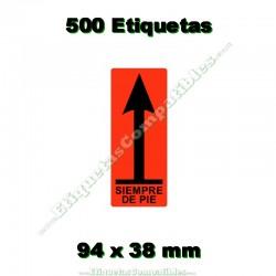"""1 Rollo 500 Etiquetas """"Siempre de pie"""""""