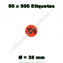 """50 Rollos 500 Etiquetas """"-10%"""""""