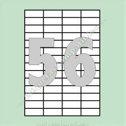 100 Hojas A4 con 56 Etiquetas de 52,5 x 21,2 mm