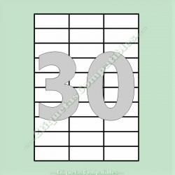 100 Hojas A4 con 30 Etiquetas de 70 x 29,7 mm