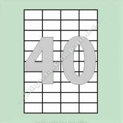 100 Hojas A4 con 40 Etiquetas de 52,5 x 29,7 mm