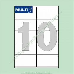 100 Hojas A4 Multi3 con 10 Etiquetas de 105 x 57 mm