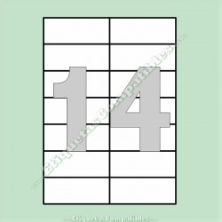 100 Hojas A4 con 14 Etiquetas de 105 x 42,4 mm