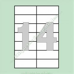 500 Hojas A4 con 14 Etiquetas de 105 x 42,4 mm