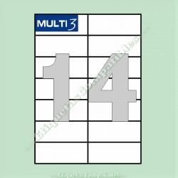 100 Hojas A4 Multi3 con 14 Etiquetas de 105 x 42,4 mm