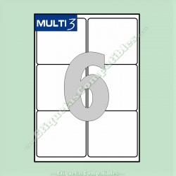 100 Hojas A4 Multi3 con 6 Etiquetas de 99,1 x 93,1 mm