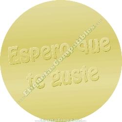 """500 Etiquetas """"Espero que te guste"""" Oro Relieve"""