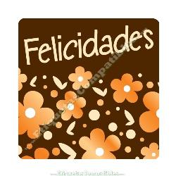 "250 Etiquetas ""Felicidades"" Margaritas"