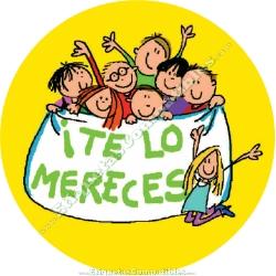 """500 Etiquetas """"Te lo mereces"""" Niños"""