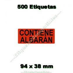 """1 Rollo 500 Etiquetas """"Contiene albarán"""""""
