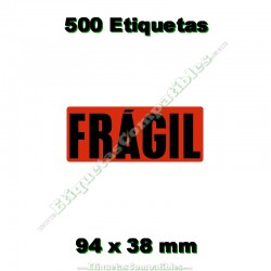 "1 Rollo 500 Etiquetas ""Frágil"""