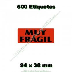 "1 Rollo 500 Etiquetas ""Muy frágil"""