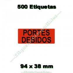 """1 Rollo 500 Etiquetas """"Portes debidos"""""""