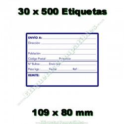 """30 Rollos 500 Etiquetas """"Direcciones"""""""