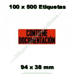 """100 Rollos 500 Etiquetas """"Contiene documentación"""""""