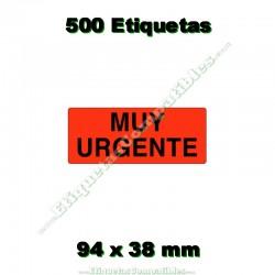 """1 Rollo 500 Etiquetas """"Muy urgente"""""""