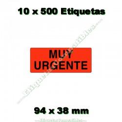 "10 Rollos 500 Etiquetas ""Muy urgente"""