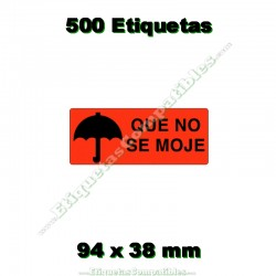 "1 Rollo 500 Etiquetas ""Que no se moje"""