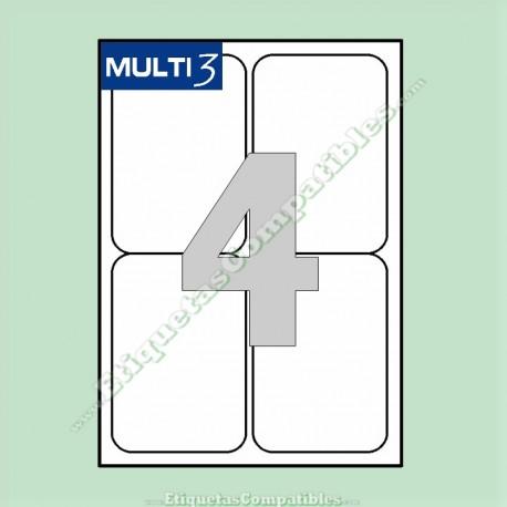 2000 Hojas A4 Multi3 con 4 Etiquetas de 99,1 x 139 mm