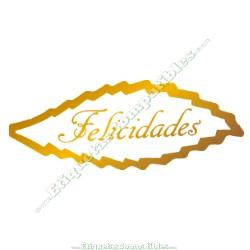 """500 Etiquetas """"Felicidades"""" Hoja S"""