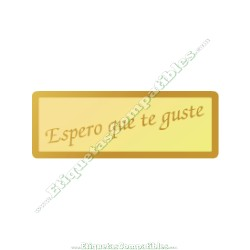 "Rollo 500 Etiquetas ""Espero que te guste"" Oro S"