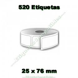 1 Rollo 25 x 76 mm