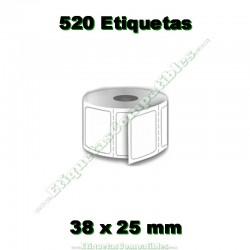 1 Rollo 38 x 25 mm