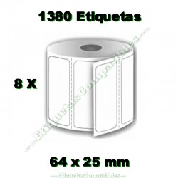 8 Rollos 64 x 25 mm