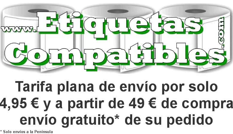 Tarifa plana de envío por solo 4,95 € y a partir de 49 € de compra envío gratuito de su pedido